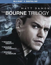 The Bourne Trilogy (Blu-ray Disc, 2016, 3-Disc Set, Includes Digital Copy...