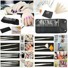 20pc Nail Art Design Painting Dotting Detailing Pen Brushe Manicure Tool Kit Set