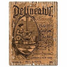 PP0337  Rust Old Vintage Poster Plate Sign Store Home Restaurant Cafe Wall Decor