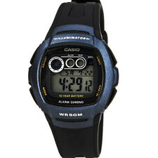 Casio W210-1BVES Mens Digital Resin Strap Watch - Black For Men New Uk
