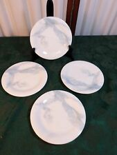 4-1985 Beautiful Sasaki Calacatta Blue Ultra Fine China Dessert Plates