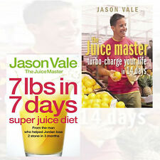 Jason Vale Collection 2 Books Set Pack 7lbs in 7 Days,Turbo charge Your Life PB