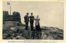Kaiser Wilhelm II. & das norweg.Königspaar a.d.Fjeldsaeter bei Drontheim 1906