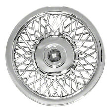 "Universal 15"" Chrome Hubcap Hub Cap Rim Wheel Cover"