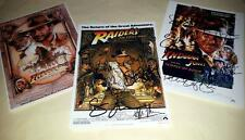 "INDIANA JONES SET OF 3 CAST PP SIGNED 12""X8"" POSTERS HARRISON FORD"