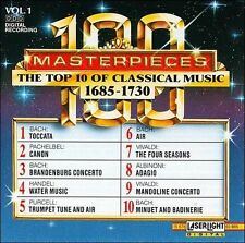 100 Masterpieces Vol. 1: The Top 10 Of Classical Music, 1685-1730 By Bach [Com..
