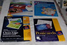 Paper 4 Lot HP Greeting Card Paper Postcards 2-Side Business Cards Photocard Kit