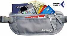Money Belt Travel Wallet RFID Blocking Hidden Passport Holder Waist Pouch
