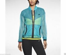 Nike Women's Sunset Mesh Full Zip Running Jacket Sz M Teal 611235 383 NEW $110