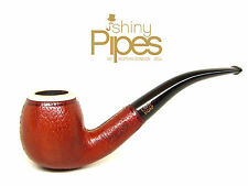 Hilson BLOCK MEERSCHAUM Leather Wrapped BRIAR Bent Estate Pipe AWESOME - z94