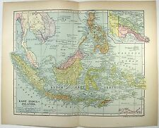 Original 1903 Map of The East India Islands by Dodd Mead & Company