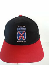 10th Mountain Division / Reenlist / Ft Drum, NY Military Ball Cap Hat