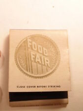 Vintage advertising match book: Food Fair