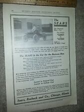 The Sears Business Man's Car Advertisement 1912 Model Munsey's Magazine