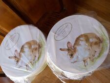 Set of 8 Pottery Barn Pasture Bunny plates Easter