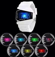 HOT SALES Digital LED Fashion Sports Wrist Watch Metal  Men Women Kids Boys Girl