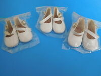 """Wholesale Danbury Mint (3) Pair White Shoes for 18"""" Shirley Temple Dress Up Doll"""