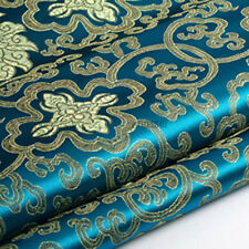 Chinese Embroidery Flower Brocade Silky Satin Fabric for Sheet Quilting 1 Meter