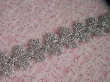 Silver Metallic Lace Trim, 3 YARDS, Sparkle Trim, Costumes, Christmas Crafts