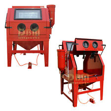 XL Dual Double Sided Door 2 Person Sand Blaster Cabinet Abrasive Blasting 1200L