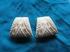 Vintage Bakelite (?) Clip earrings. Ivory color. . Gift Box.