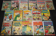 Vintage Dell/Charlton GOLD/SILVER TITLES 200+pc Low Grade Comic Lot PR to FN-