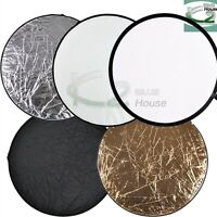 "Photography 24"" 61cm 5 in 1 Round Collapsible Multi Disc Light Panel Reflector"