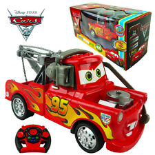 DISNEY PIXAR LIGHTNING MCQUEEN ELECTRIC RC RADIO REMOTE CONTROL CAR KID BOY TOY