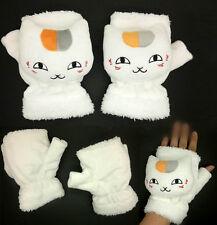 Anime Natsume Yuujinchou Sensei Teather Cat Plush gloves Cosplay Winter Glove