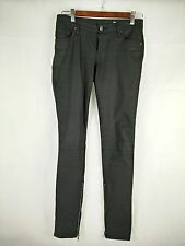 WOMEN'S SASS AND BIDE JEANS SKINNY BLACK WET LOOK SIZE 8