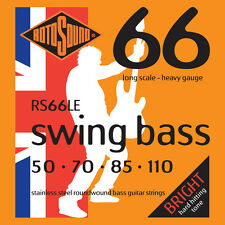 ROTOSOUND RS66LE STAINLESS STEEL BASS STRINGS, HEAVY GAUGE 4's   50-110