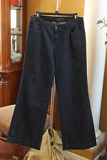 SIMPLY VERA WANG JEANS WOMENS SIZE 8 DARK WASH STRETCH WIDE LEG MINT CONDITION