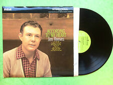Jim Reeves - According To My Heart, RCA International INTS-1013 Ex+ Condition LP