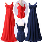 Long Chiffon Prom Party Evening Gown Wedding Dress Bridesmaid Formal Maxi Dress
