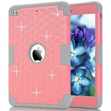 Shockproof Armor Triple Layer Bling Hard Case Cover For Apple iPad Mini 1/2/3 4
