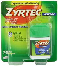 Zyrtec Allergy 70 CT 10 mg..Exp. Date**/.2018