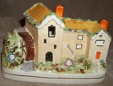 Estate Staffordshire? Vintage? Reproduction Water Wheel Old Mill Cottage House &