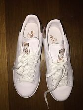 adidas Originals: Women's Stan Smith (Sz. 7.5) White / Rose Gold BB1434