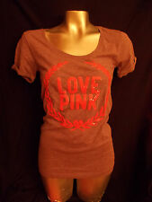 Victorias Secret LOVE PINK Bling logo Crest  T Shirt Purple  Tee PINK  BLING XS