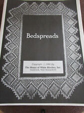 Vtg 1980 Crochet Bedspreads Pattern BOOK by House of White Birches 48pgs