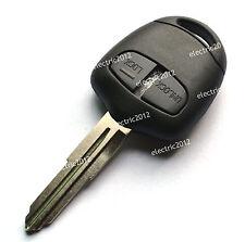Uncut Blank Blade Remote Key Case Shell Fob For Mitsubishi Pajero Triton 2Button