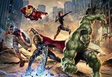 Wall Mural photo Wallpaper AVENGERS MARVEL HERO Comic HULK SPIDERMAN .. FOR BOYS