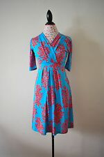 Lilly Pulitzer Multi color Coral Reef Print Silk Blend Dress W/ Pockets Sz S!