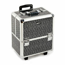 Professional Beautician Make Up Vanity Case Beauty Handle Trolley Travel Box