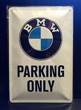 BMW PARKING ONLY Embossed Steel Sign Garage Wall Decor 20x30 Cm