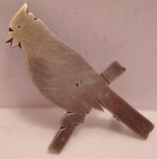 Beautiful Antique Sterling Silver Cardinal Song Bird Pin 1920s-30s V Unusual!