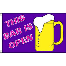 This Bar Is Open Flag 5Ft X 3Ft Pub Party Beer Festival Banner With 2 Eyelets
