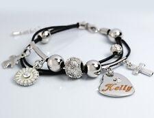 18k Plaqué Or Charme Bracelet - KELLY - Bijoux Pour les Femmes Mère Amour