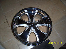 "Qasis 20x8.5"" B-1 Chrome Rim Hot Rod 5 Spoke Truck 5 Lug  Big Bolt GM 5x5"
