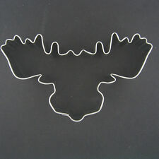 "MOOSE HEAD 4"" METAL COOKIE CUTTER FONDANT STENCIL HUNTING PARTY FAVOR NEW"